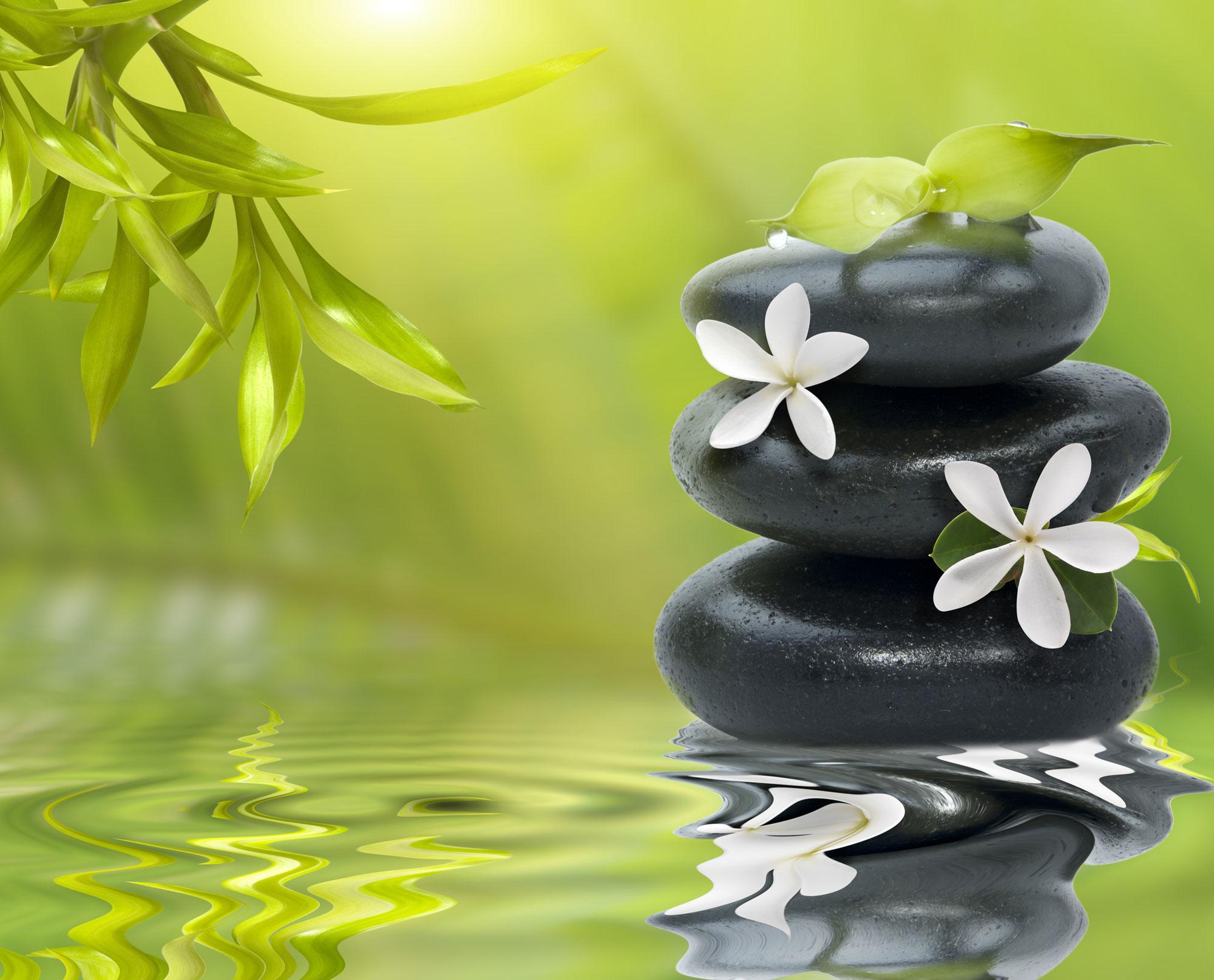 harmony stones in water