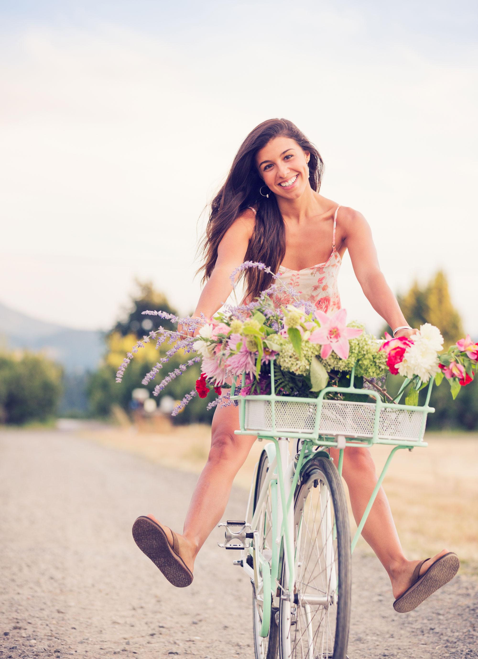 harmony girl on bicycle