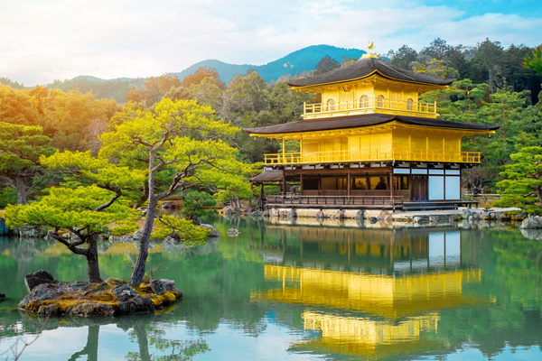 beautiful temple by the water